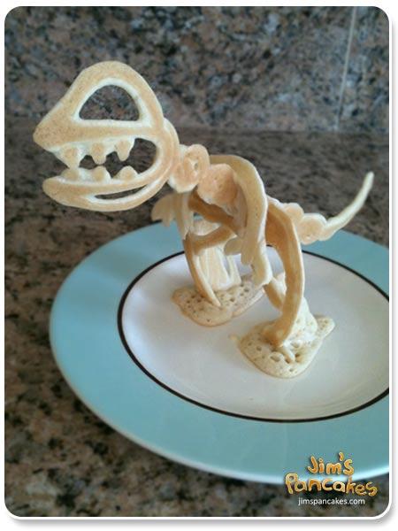 Dinosaur-pancake