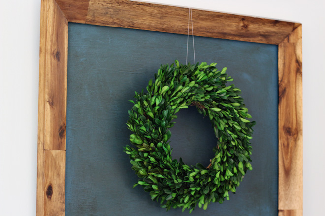 Suziebeezieland wreath in frame craft